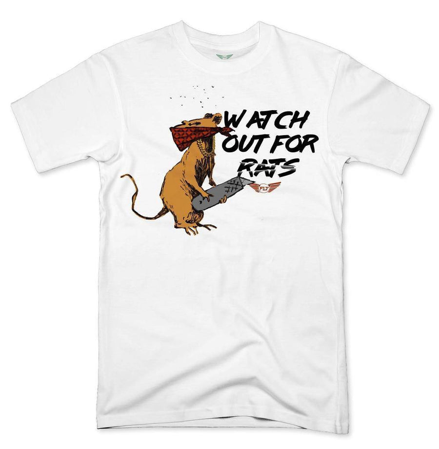 FLY - Watch Out For Rats Tee-MENS CLOTHING-FLY STREET LIFE-Cream-S-streetwear-from-FlyStreetLife