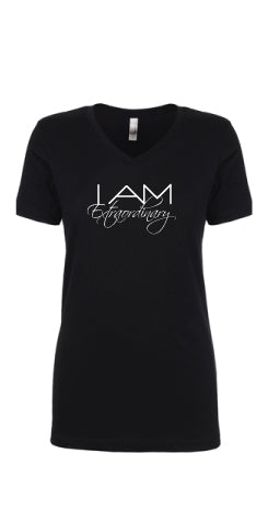 I AM EXTRAORDINARY V Neck T Shirt