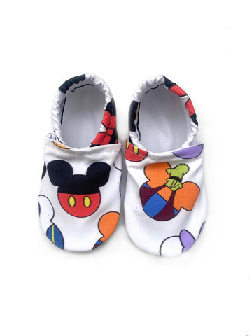 Mickey Heads Swim Booties