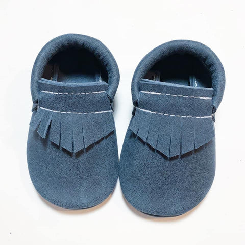 Denim Moccasins