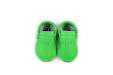 Neon Green Breathable Moccasins