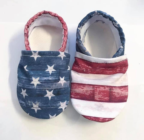 Rustic Stars and Stripes Swim Booties