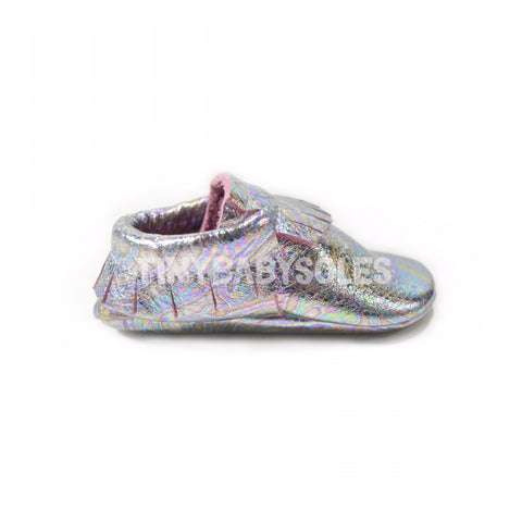 Holographic Swirl Moccasins