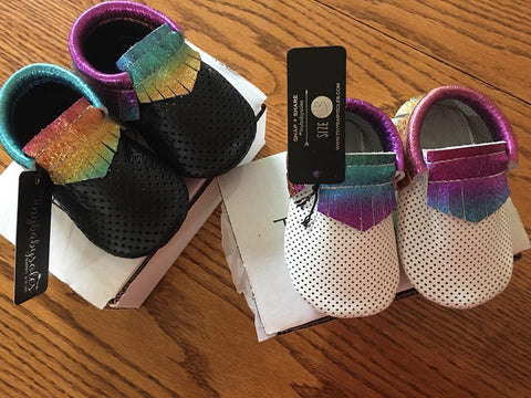 Rainbow Breathable Moccasins