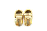Gold Breathable Moccasins