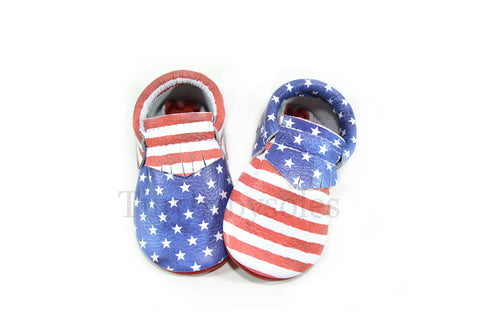PRE ORDER- Independence Moccasins (ONE OF A KIND)