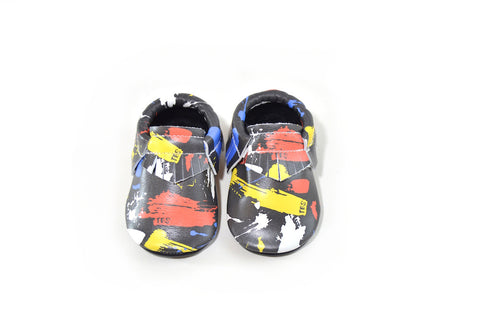 TBS Exclusive- Paint Splatter Moccasins