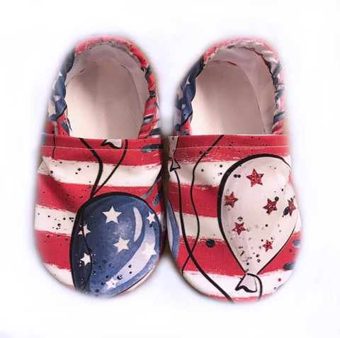 Red, White and Ballons Swim Booties