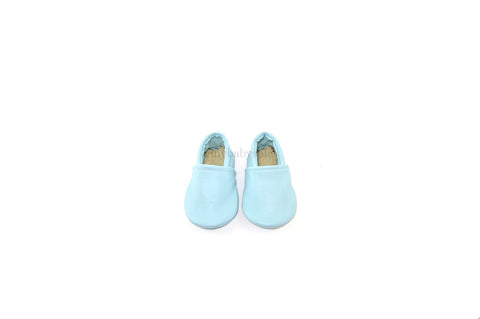 Baby Blue Leather Bootie