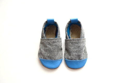 Robin Blue (Ash Fabric) Fabric x Leather Bootie