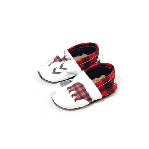 LIMITED EDITION WOODLAND BUFFALO PLAID ORGANIC BOOTIE