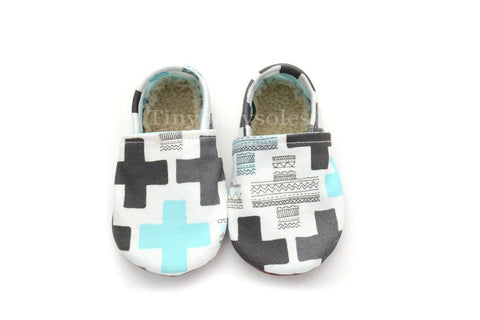 BLUE AZTEC CROSS ORGANIC BOOTIE