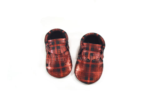 Limited Edition- Metallic Plaid Moccasins