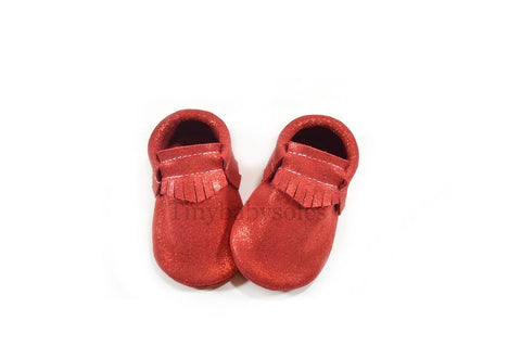 Sparkle Red Moccasins