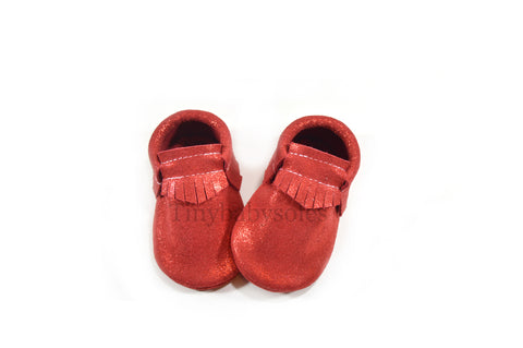 Limited Edition- Sparkle Red Moccasins