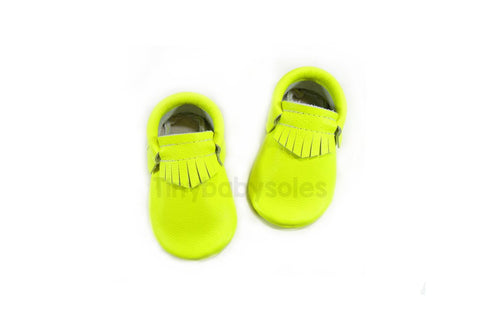 Neon Yellow Moccasins