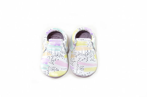 TBS Exclusive- Pastel Paint Moccasins