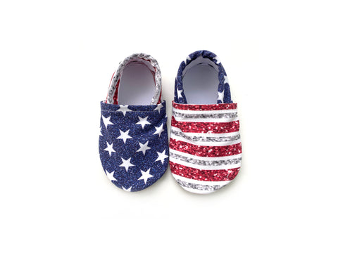 Glitter Stars and Stripes Swim Booties