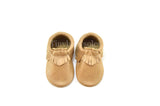 Muted Gold Moccasins