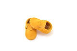 Golden Rod Suede Moccasins