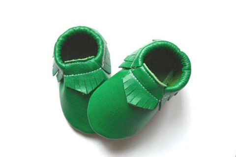 Christmas Green Moccasins