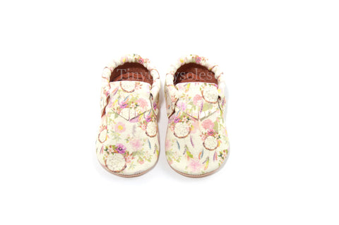 Boho Chic (Dream Catcher/Floral) Moccasins