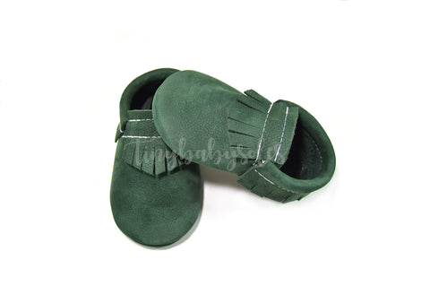 Hunter Green Moccasins