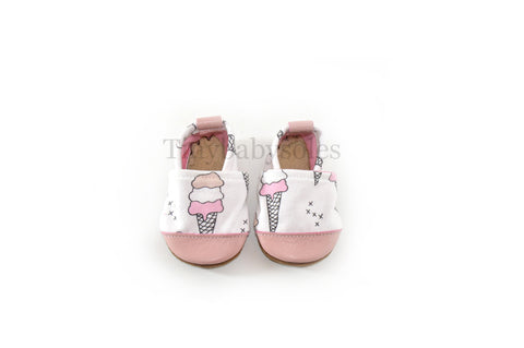 Ice Cream Organic Fabric x Leather Bootie