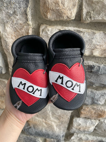 Valentines Drop-Stitched MOM Moccasins