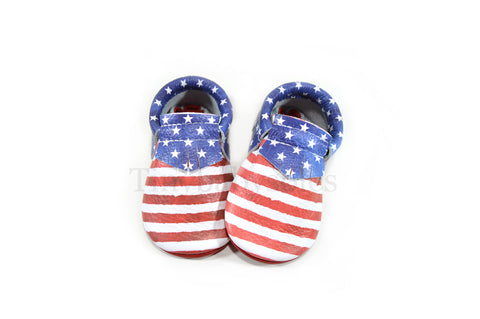 PRE ORDER- Independence Moccasins (STRIPES AND STARS)