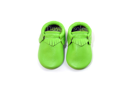 Lime Green Moccasins