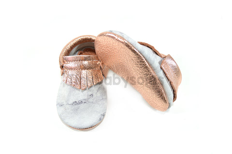 Rose Gold Marble Moccasins