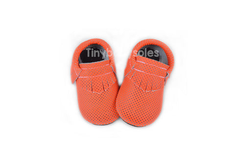 Neon Orange Breathable Moccasins