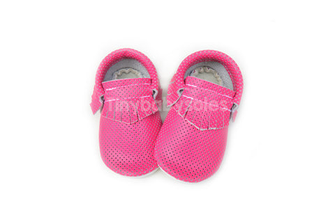 Neon Pink Breathable Moccasins