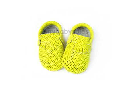 Neon Yellow Breathable Moccasins