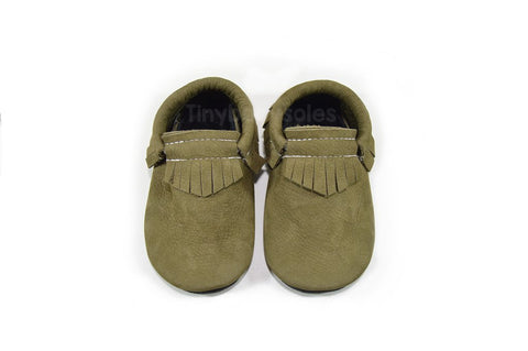 Olive LUX Moccasins