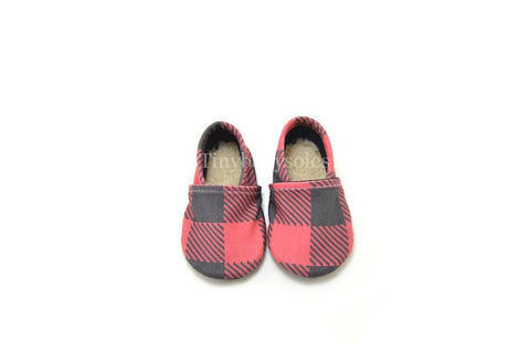 BUFFALO PLAID ORGANIC BOOTIE
