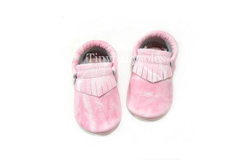 Flamingo Acid Wash Moccasins