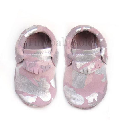 Pink Camo Moccasins