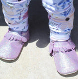 Sparkle Purple Moccasins