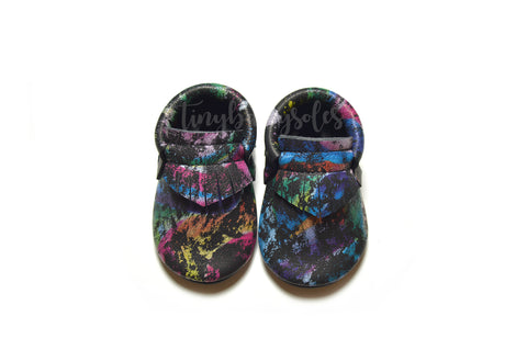 Rainbow Matrix Moccasins