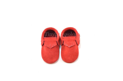 Red Suede Moccasins