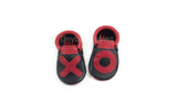 VALENTINES EDITION- XO STITCH ON MOCCASINS