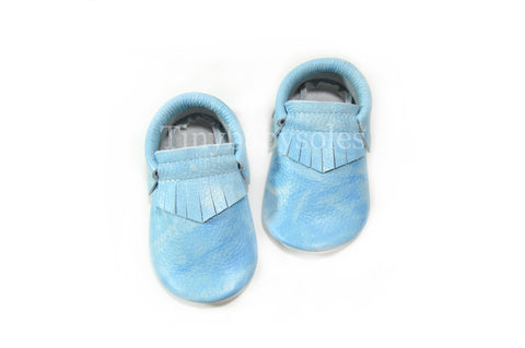 Sky Acid Wash Moccasins