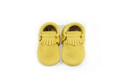 Soft Yellow Moccasins