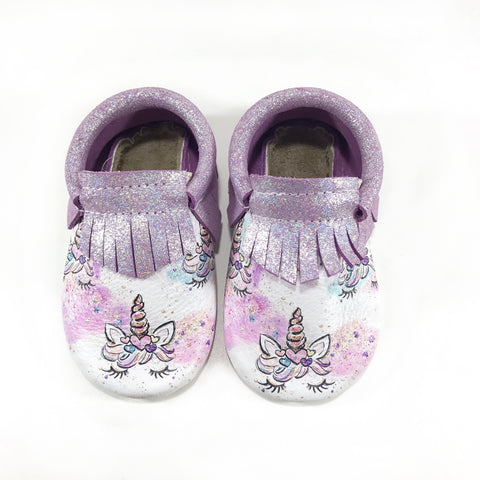 Sparkle Purple Unicorn Moccasins
