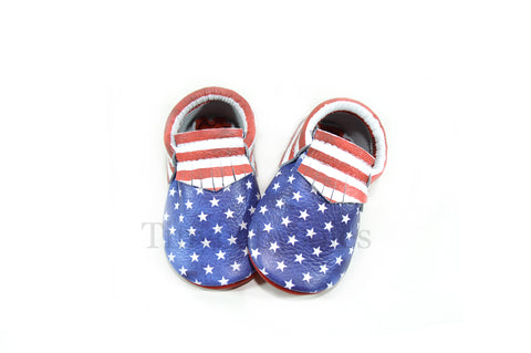 PRE ORDER- Independence Moccasins (STARS & STRIPES)