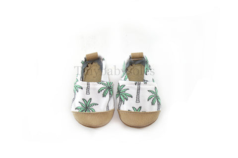 Palm Tree Organic Fabric x Leather Bootie