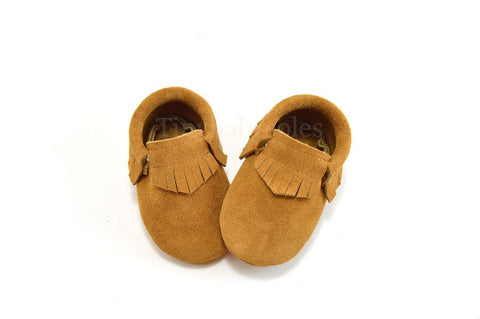 Toast Suede Moccasins