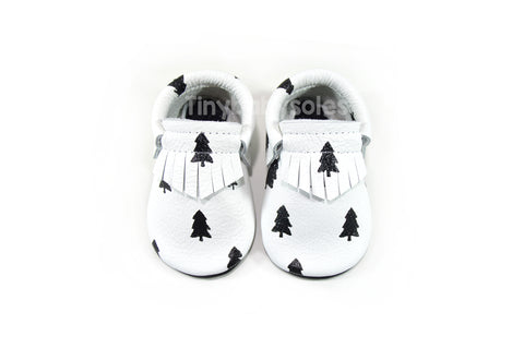Monochrome Trees Moccasins